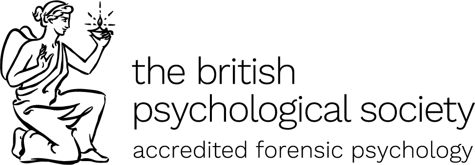 The Accredited Logo of the British Psychological Society, for Forensic Psychology