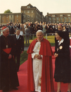 Pope John Paul II at Digby Stuart