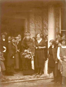 Queen Mary visited FEI at Grove House on 14 February 1923