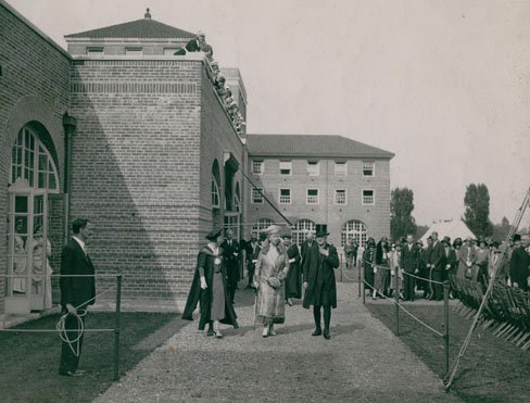 Queen Mary opens the Giles Gilbert Scott Building, Whitelands, West Hill June, 1931