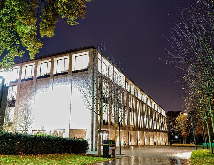 Image -  Library at night