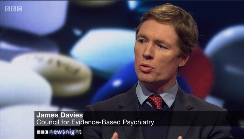 Image - Dr James Davies discusses new antidepressant findings on Newsnight