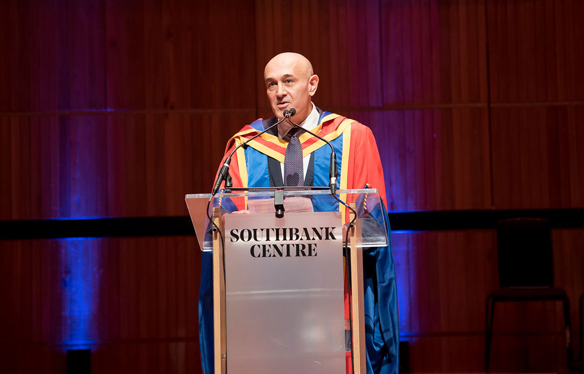 Image - Professor Jim Al-Khalili awarded honorary doctorate at the University's winter graduation