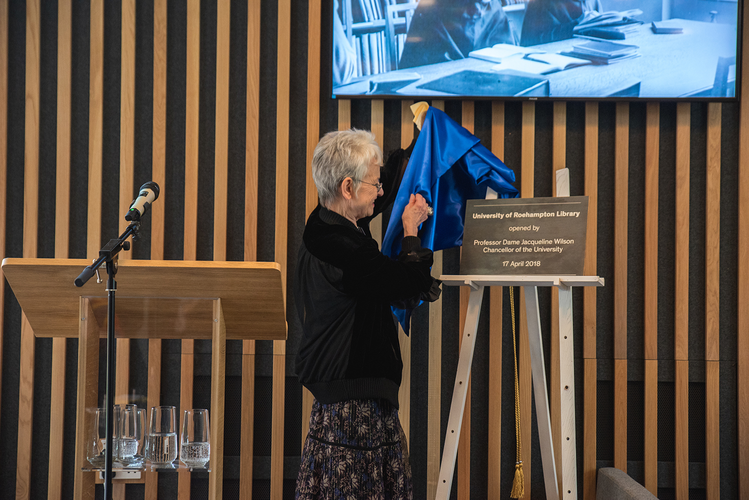 Image - New Library officially opened by University's Chancellor, Dame Jacqueline Wilson