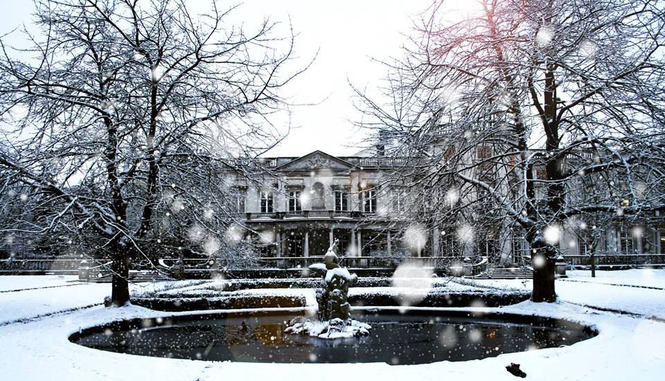 Grove House in winter